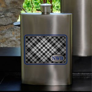 Plaid Guys Party Flask image
