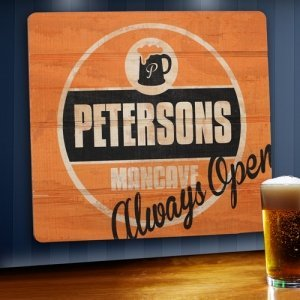 Always Open Personalized Wood Tavern & Bar Sign image