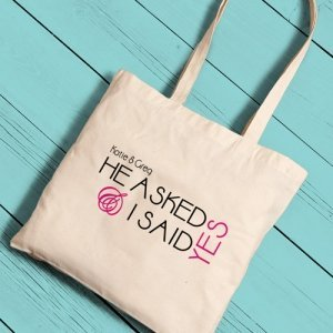 Personalized Bride Tote Bags (11 Designs) image
