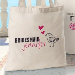 Personalized Bridesmaid Tote Bags (12 Designs) image