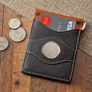 Personalized Two Tone Leather Wallet image