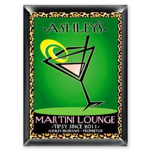 Personalized 'Cosmo-Chic' Martini Lounge Sign image