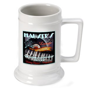 Personalized Piano Bar Beer Stein image