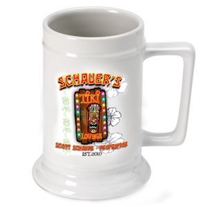 Personalized Tiki Lounge Beer Stein image