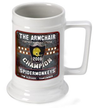 Personalized Fantasy Football Champion Beer Stein image