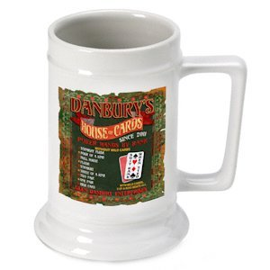 Personalized 'House of Cards' Beer Stein image