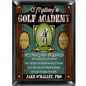 Personalized Golf Academy Sign image