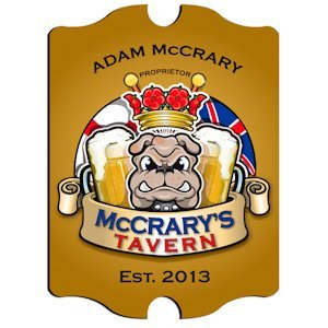 Personalized Vintage English Bulldog Pub Sign image