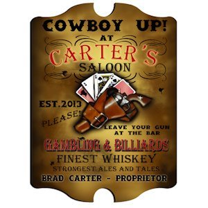 Personalized Vintage Saloon Pub Sign image