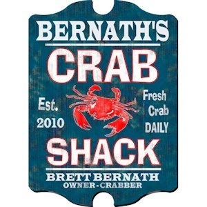 Personalized Vintage Crab Shack Pub Sign image