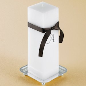 Personalized Square Unity Candle Set with Stand image