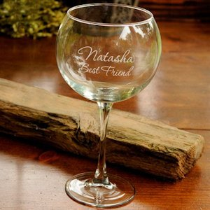 Personalized Red Wine Goblet image