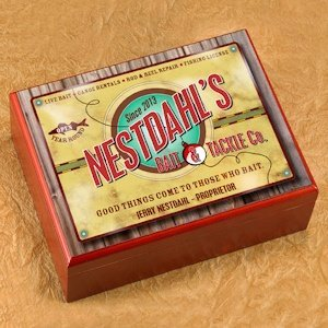 Personalized Bait and Tackle Cigar Humidor image