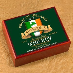 Personalized Irish Whiskey Cigar Humidor image