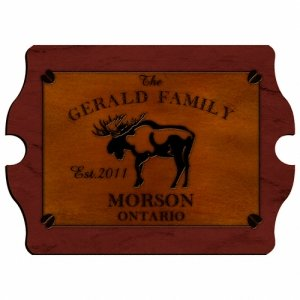 Personalized Cabin Series Vintage Sign (9 Designs) image