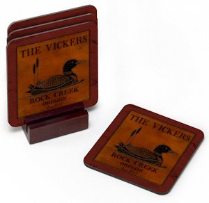 Cabin Series Personalized Coaster Set (8 Designs) image