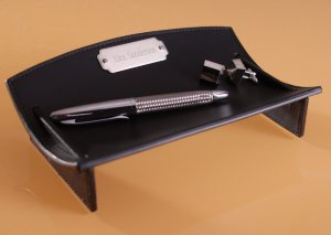 Personalized Leather Desk Caddy image