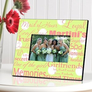 Personalized Maid of Honor Picture Frames (7 Colors) image