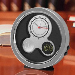 Personalized Modern Times Desk Clock image