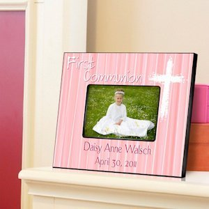 Personalized Pink First Communion Frame image