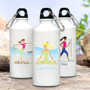 Personalized 'Go-Girl' Active Water Bottle (Many Designs) image