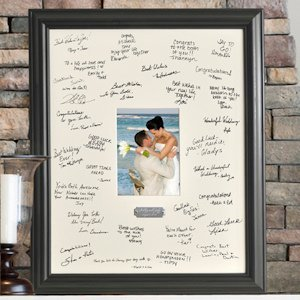 Wedding Signature Frame with Engraved Plate image