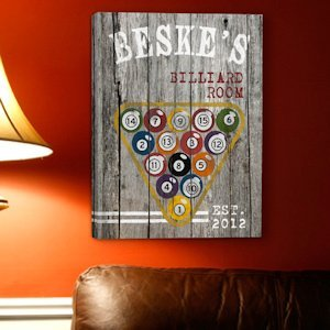 Personalized Billiards Canvas Print image