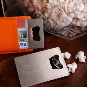 Personalized Credit Card Bottle Opener image