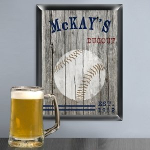 Woodgrain Style Sports Pub Signs (5 Designs) image