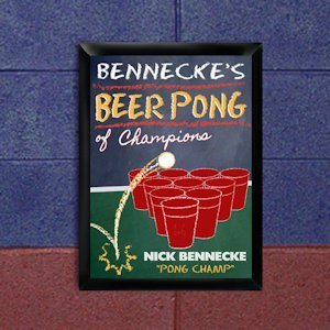Personalized Beer Pong Champion Pub Sign image
