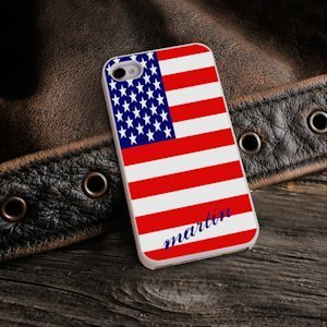 American Flag Personalized iPhone Case image