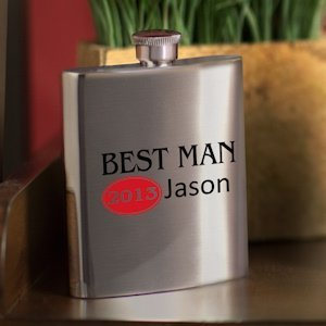 Personalized Red Hot Bridal Party Flasks (4 Options) image