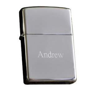 Personalized Zippo Light with Chrome Finish image