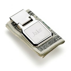 Foldable Engraved Money Clip image