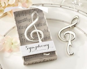 Symphony Chrome Music Note Bottle Opener image