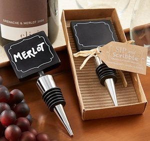 Wine Bottle Stopper with Chalkboard Top image