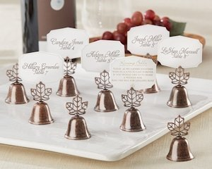 Autumn Leaf Kissing Bell Place Card Holders (Set of 24) image