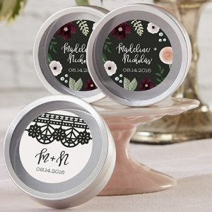 Personalized Romantic Garden Candy Tin Favors (Set of 12) image