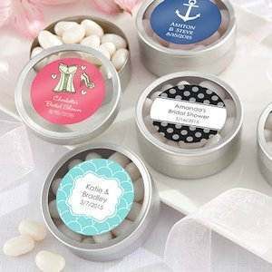 Simply Sweet Round Bridal Candy Tin (set of 12) image