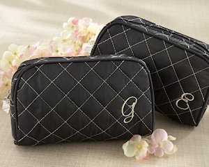 Monogrammed Quilted Cosmetic Bag image