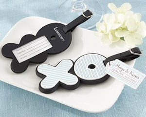 Hugs & Kisses From Mr. & Mrs. Luggage Tag Favors image