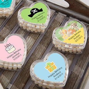 Personalized Birthday Heart Shaped Favor Boxes (Set of 12) image