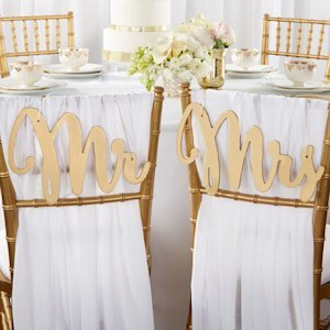 Gold Promises Classic Mr. and Mrs. Chair Backers image