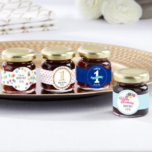 Personalized Birthday Party Strawberry Jam Favor (Set of 12) image