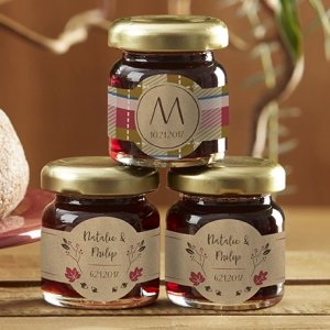 Personalized Fall Design Strawberry Jam Favors (Set of 12) image