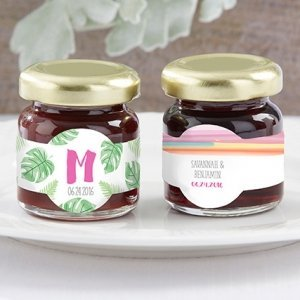 Personalized Pineapples & Palms Strawberry Jam (Set of 12) image