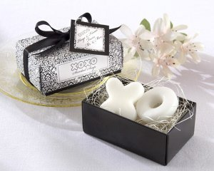 Hugs and Kisses from Mr and Mrs Soap Wedding Favors image
