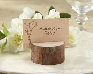 Rustic Real-Wood Place Card & Photo Holder (Set of 4) image