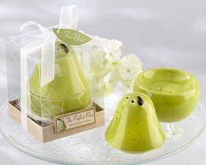'The Perfect Pair' Ceramic Salt and Pepper Shakers image