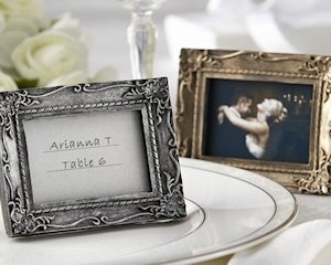 'Work of Art' Antique Gold Finish Place Card Frame image